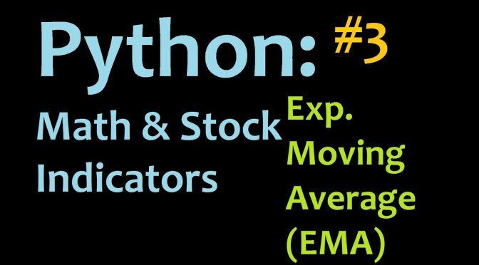 Python: Exponential Moving Average (EMA) Mathematics and Stock